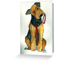 Airedale Terrier Dog Portrait Greeting Card
