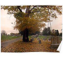 October Graveyard Poster