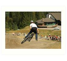Mountain bike Slopestyle Art Print