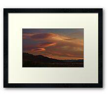 Alien Clouds Framed Print