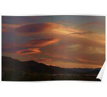 Alien Clouds Poster