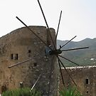Old Windmill, Crete, Greece by Teresa Zieba