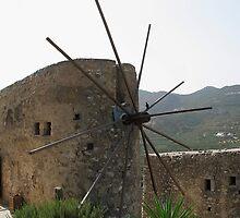 Old Windmill, Crete, Greece by Teresa Zieba