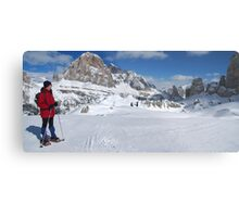 Winter snowshoeing Metal Print