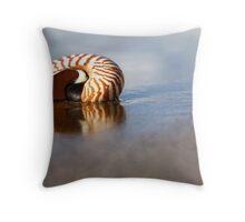 Beached Nautilus Throw Pillow
