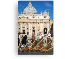 Vatican musicians  Canvas Print
