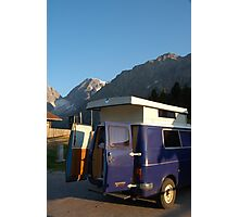 Campervan in Austria Photographic Print