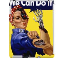 We can do it! Terminator style poster  iPad Case/Skin