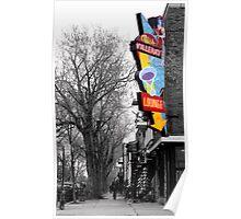 Neon strip Poster