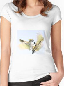 ~Feathered Rivalry~ Women's Fitted Scoop T-Shirt