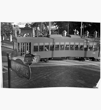 Old Ybor City trolley Poster