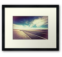 Road in the Desert Framed Print
