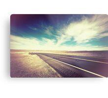Road in the Desert Metal Print