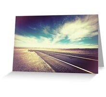 Road in the Desert Greeting Card