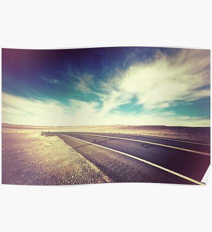Road in the Desert Poster