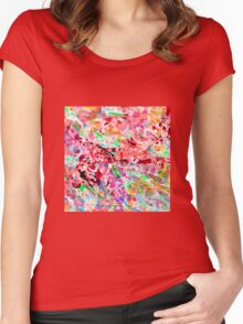 PINK ink ART,  LAYER upon layer hand DRAWN digi Women's Fitted Scoop T-Shirt