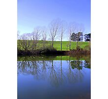 River Bank Reflections The Esk River Longford  Photographic Print