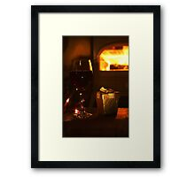 Warmth and Wine Framed Print