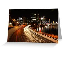 freeway lights Greeting Card