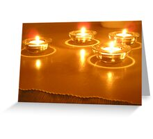 Lighted Candles  Greeting Card