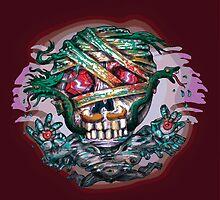 Flying Death Mummy Skull Face by DavidShame