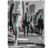 Crowd walking in Manhattan in 3D iPad Case/Skin
