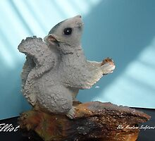Making a sculpture stage 9 Elliot A beautiful white Squirrel much loved. by Alex Gardiner