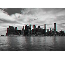 New York City Skyline in 3D Photographic Print