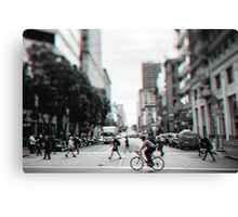 Stereoscopic San Francisco People Canvas Print