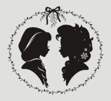 Elsa and Anna Silhouette // Disney Frozen Sisters by hocapontas