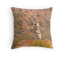 The hunt for survival begins Throw Pillow