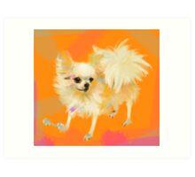 Dog Chihuahua Orange Art Print
