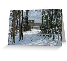 Winter Church Greeting Card