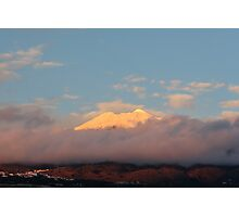 Teide covered in snow Photographic Print