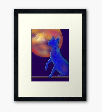 'Bast'  Cat Variations #1, Egyptian Framed Print