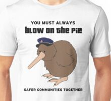 You Must Always Blow On The Pie - Police Kiwi (Black Text) Unisex T-Shirt