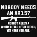 Nobody Needs An AR15  by rara25