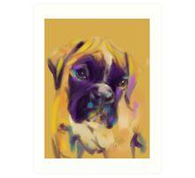 Dog boxer Bobby Art Print