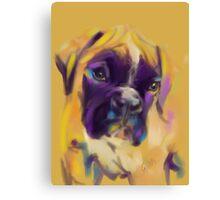 Dog boxer Bobby Canvas Print
