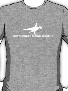 dinosaur riding academy - white T-Shirt