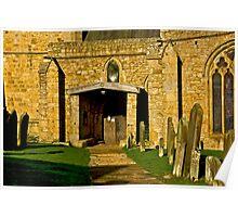 Church Door - Romaldkirk,Co Durham Poster