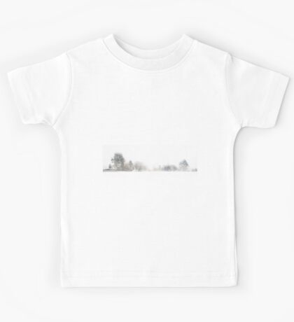 A Line of Trees in the Snow Kids Tee