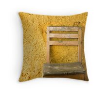 Chair and mud wall Throw Pillow