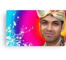 Indian Bride Groom  Canvas Print