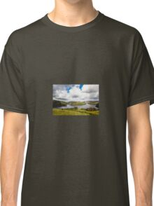 Photographer at Llyn Brianne Reservoir, Mid Wales Classic T-Shirt
