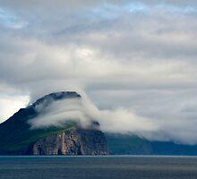 Island of Koltur as seen from Miðvágur by Mark Prior