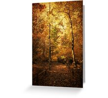 Golden Canopy Greeting Card