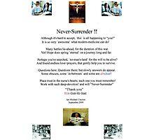 """Never-Surrender"" Photographic Print"