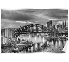 Monochrome - The City a Study In Black and White - The HDR Experience Poster