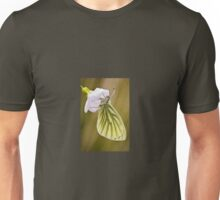 Green Veined White Butterfly on Cuckoo Flower Unisex T-Shirt